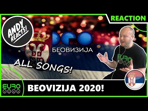 BEOVIZIJA 2020: ALL SONGS REACTION (Serbia Eurovision 2020) | ANDY REACTS!