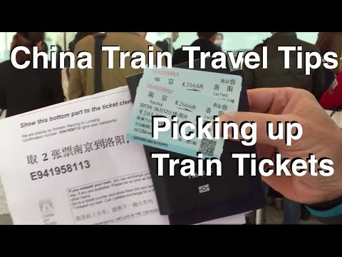 China Train Travel Tips - Picking up train tickets in China