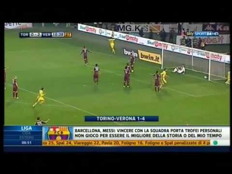 Torino-Hellas Verona 1-4 Serie Bwin 2011-2012 (GOL SKY SPORT DARIO MASSARA)