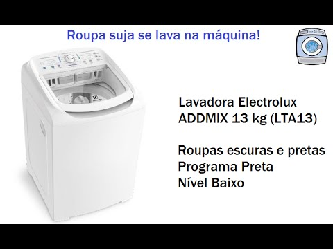 Lavadora Electrolux Addmix 13 kg (LTA13) - Programa Preta