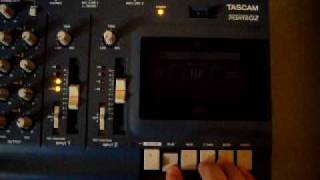 Tascam Ministudio porta 2  headphones test (bought it on ebay for 15 dlls)