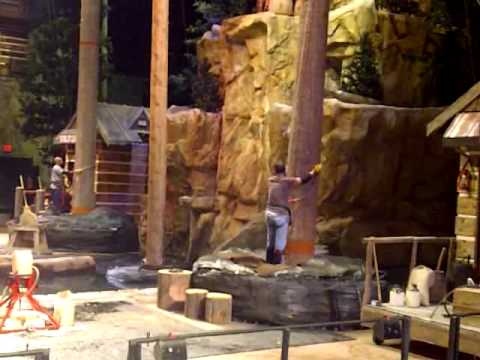 Lumberjack show in pigeon forge tn youtube
