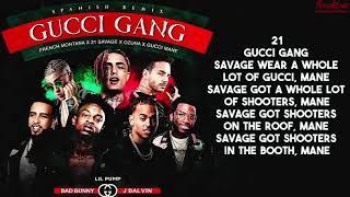 Gucci Gang Remix (Letra) - Lil Pump Ft Bad Bunny - Ozuna - J Balvin - French Montana Y 21 Savage
