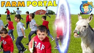PORTAL at the FARM!  So Many Chase & Shawns!  (FV Family Vlog)