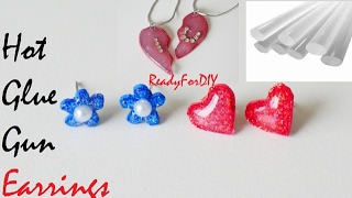 DIY Hot Glue Gun Earrings & Lockets - Valentine