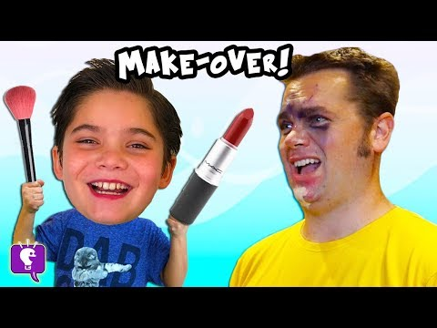 Hobby Kids Put MAKE-UP On The Parents CHALLENGE Part 1
