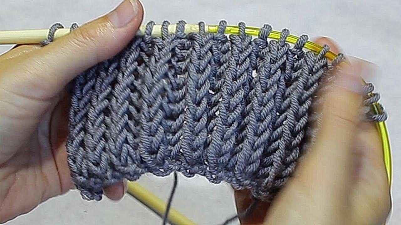 Вязание хомут английской резинкой