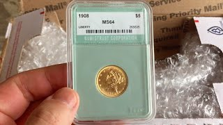 Picked up a beautiful $5 gold half eagle 1908 that i will be regrading with NGC very soon (part 2)