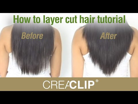 How to layer cut hair tutorial-Cutting Layers on yourself at home