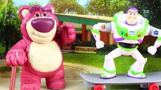 Disney Pixar Toy Story Slam And Launch Buzz Lightyear With Skateboard With Lotso Alien And Woody