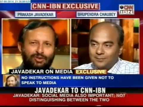 An interview of Prakash Javadekar to CNN IBN