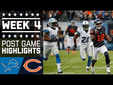 Lions Vs Bears Nfl Week 4 Game Highlights
