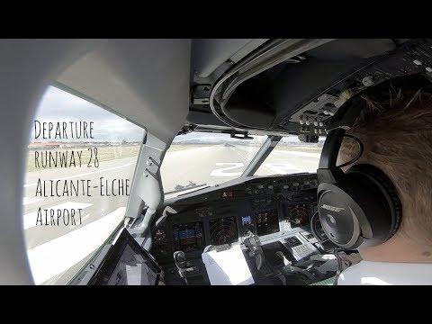 Departure runway 28 Alicante Elche airport (ALC LEAL)