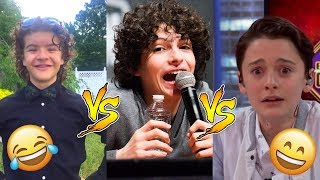 Finn Vs Gaten Vs Noah - Who Is Funnier? 😊😊😊 - CUTE AND FUNNY MOMENTS ( Stranger Things 2017 )
