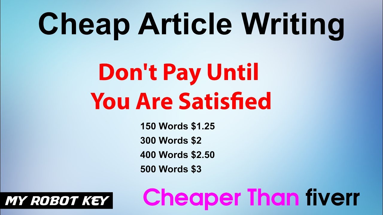 cheap article writing services