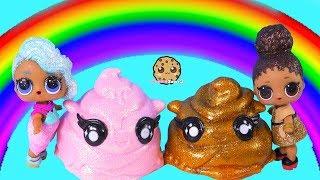Rainbow Drops Slime Rain ! LOL Surprise Dolls Find Mystery Blind Bags