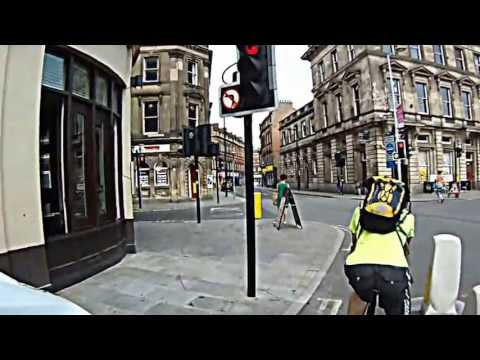 Commute by bike in summer - Derby, UK