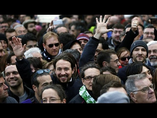 Podemos holds biggest rally yet in Spanish capital and promises election earthquake