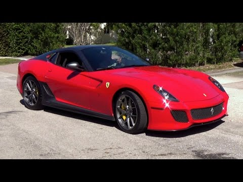 Ferrari 599 GTO Start up and drive Fort Lauderdale Exotic, Luxury & Sports Collection