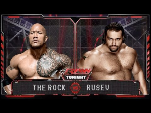 WWE RAW 14 - The Rock vs Rusev - WWE RAW Full Match HD