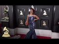 Joy Villa In Trump Dress | Red Carpet | 59th GRAMMYs
