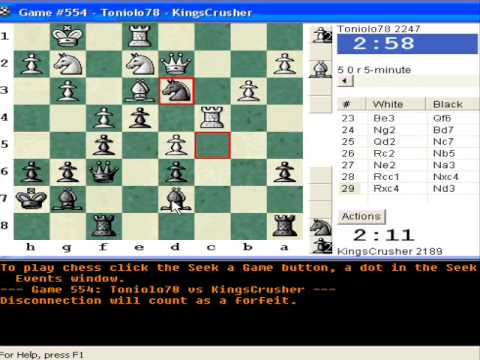 Chessworld.net : Blitz #248 vs. Toniolo78 (2247) - King's Indian Defence : 6.Be2 (E91)