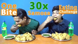 One Bite Samosa Eating Challenge | Samosa Eating Competition | Food Challenge India