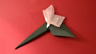 Origami Stem &amp; Leaf Instructions: Www.origami-fun.com