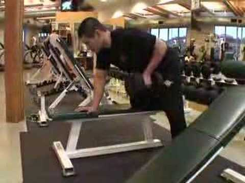 Weight lifting exercise example - One-Arm Dumbbell Rows Image 1