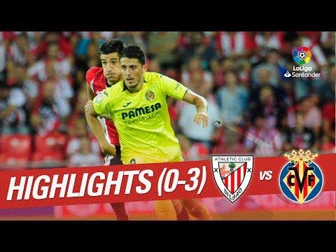 Resumen de Athletic Club vs Villarreal CF (0-3)