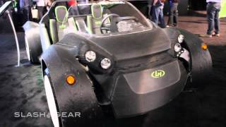 "World's First 3D-printed car Local Motors ""Strati"" up close with NVIDIA DRIVE CX"