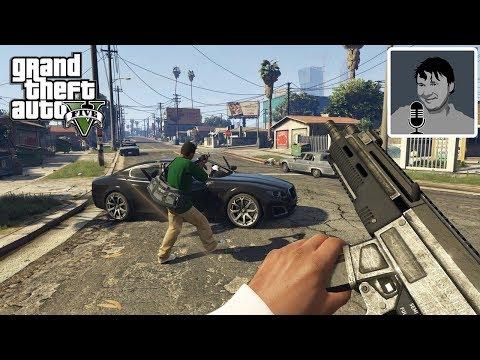 GTA 5 прохождение с видом от 1 лица PS4 Pro #1