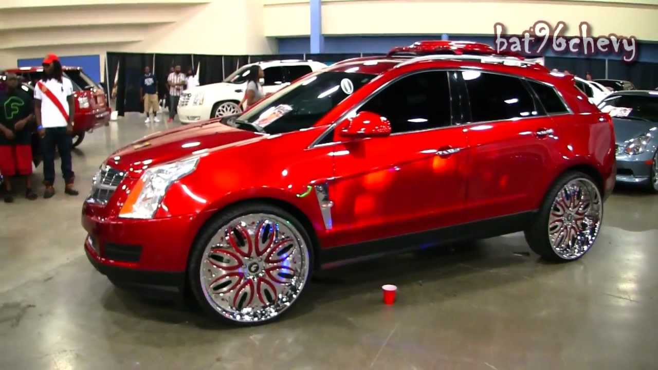 Candy red 2012 cadillac srx on 26 quot forgiatos giordano wheels 1080p hd youtube