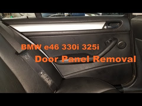 Bmw e46 330i door panel removal 323i 325i sedan