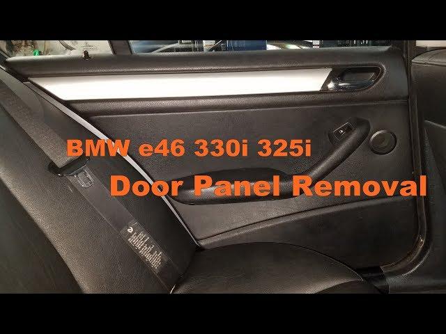 Bmw E46 330i 323i 325i Sedan Door Panel Removal - YouTube