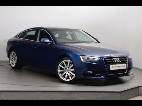 FL64JUE AUDI A5 SPORTBACK TDI SE TECHNIK BLUE 2014, Nottingham Audi
