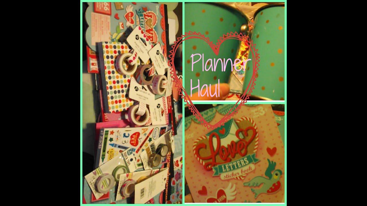 Target Planner 2015 Planner Haul Jan 2015