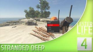 Выживаем в Stranded Deep #4 - Строим дом (Часть 2)