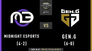 Midnight Esports vs Gen.G | CWL Pro League 2019 | Division A | Week 2 | Day 4