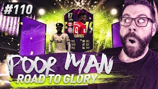 OMG 87 FUTURE STAR ALPHONSO DAVIES!!!! 80x GOLD PACKS! - POOR MAN RTG #110 - FIFA 19