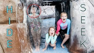 Extreme HIDE and SEEK at a WATER PARK!