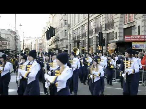 London New Year's Day Parade 2013 - The Walker Valley High School Marching Band