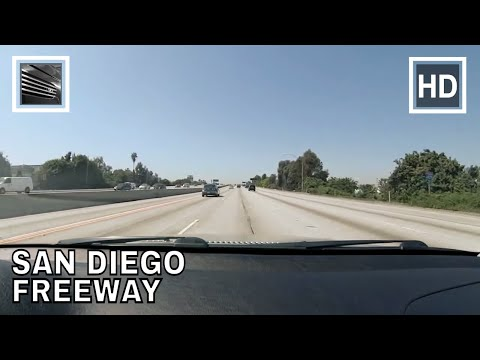 Driving in Los Angeles Interstate 405 North