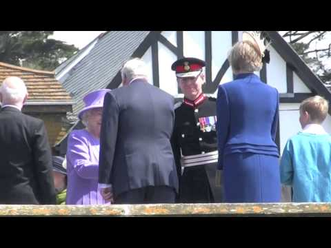 The Queen and Prince Philip visit St Michaels Mount, Marazion, Cornwall  May 2013