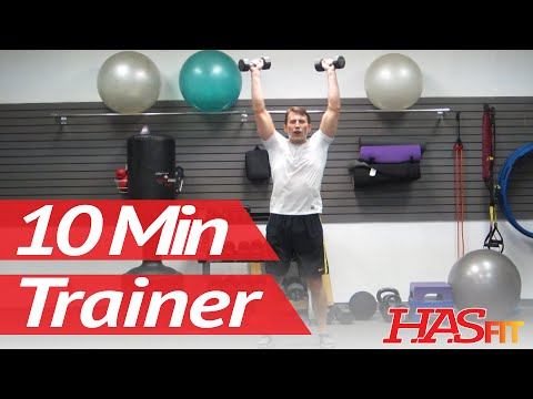 10 Minute Trainer Workouts To Lose Belly Fat Fast! Part 3 of 3   Home Exercises to Burn Fat   HASfit