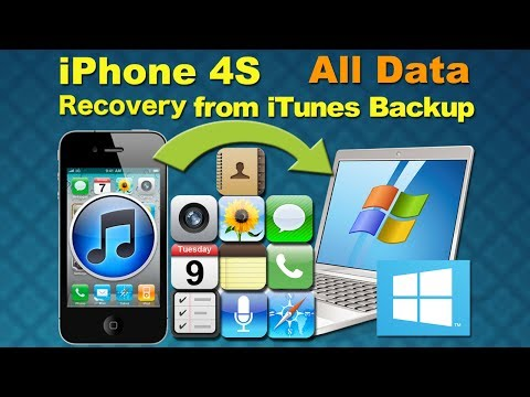 Dr.Fone iPhone 4S Data Recovery Windows: Recover iPhone 4s Contatcts/SMS/Videos from iTunes backup