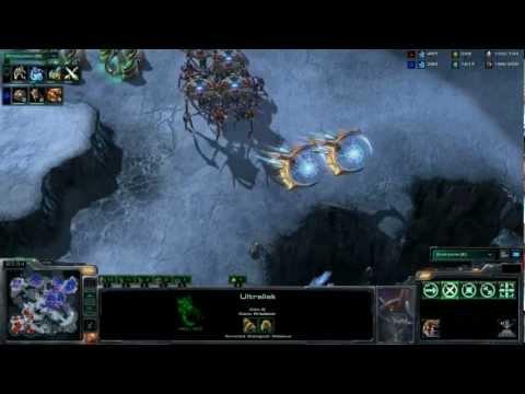 Gameplay Starcraft II: Heart of the Swarm - PvZ Nuevas Unidades Español