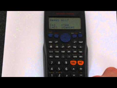 Casio fx-83GT Reset