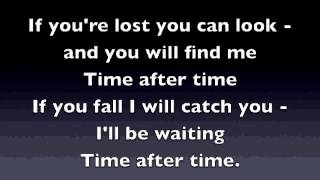 Time After Time - Eva Cassidy (Karaoke Video)