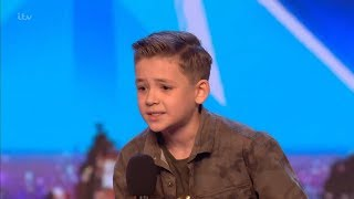 Britain 39 S Got Talent 2018 Calum Courtney 10 Year Old Singing Sensation Full Audition S12e01